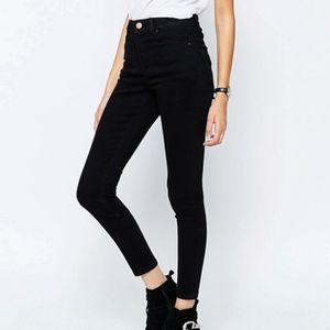 ASOS high waisted black jeans